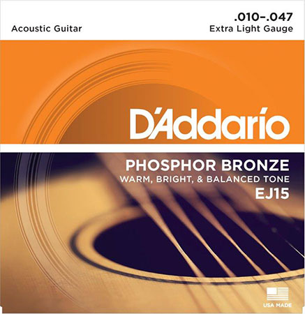 Acoustic Guitar Strings Phosphor Bronze EJ15