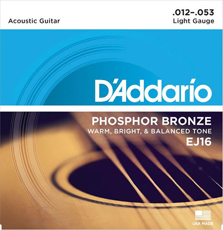 Acoustic Guitar Strings Phosphor Bronze EJ16