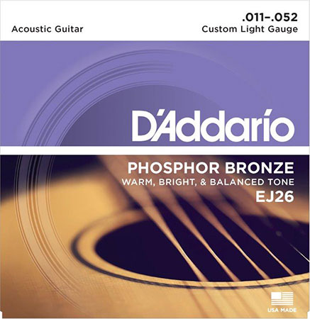 Acoustic Guitar Strings Phosphor Bronze EJ26
