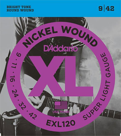 Electric Guitar Strings Nickel Wound XL120