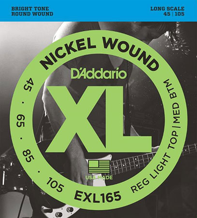 Electric Bass Guitar Strings Nickel Wound XL165