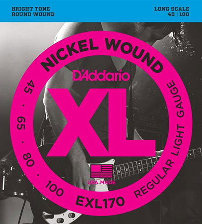Electric Bass Guitar Strings Nickel Wound XL170
