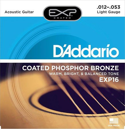 Acoustic Guitar Strings Coated Phosphor Bronze EXP16