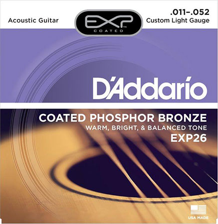 Acoustic Guitar Strings Coated Phosphor Bronze EXP26