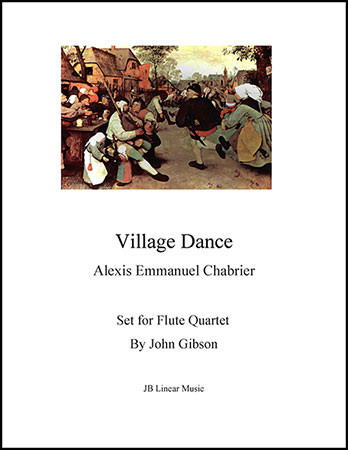 Chabrier - Village Dance for flute quartet