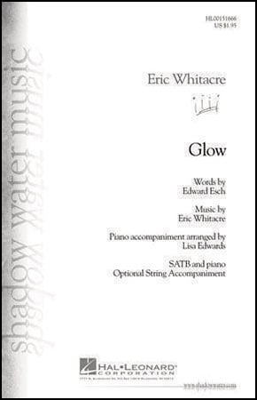 Glow choral sheet music cover