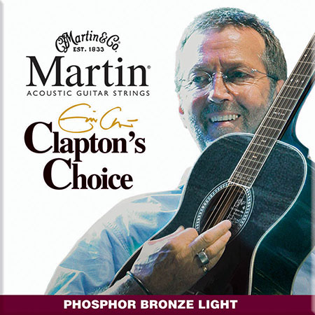MARTIN Acoustic Guitar Strings Clapton's Choice Phosphor Bronze  MEC12 image