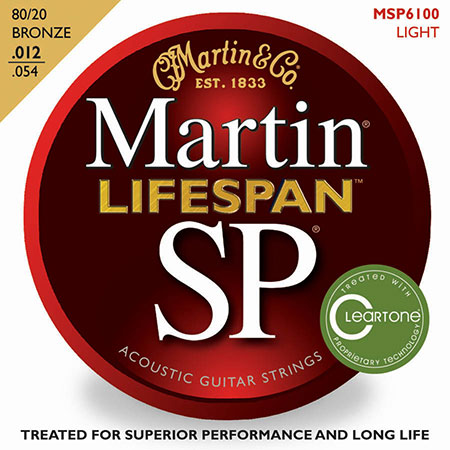 Acoustic Guitar Strings Lifespan 80/20 Phosphor Bronze SP 6100