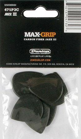 Guitar Picks Jazz III Max Grip