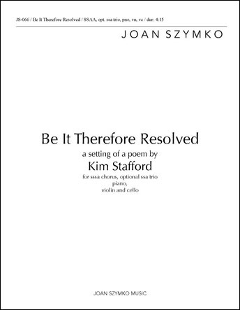 Be it Therefore Resolved