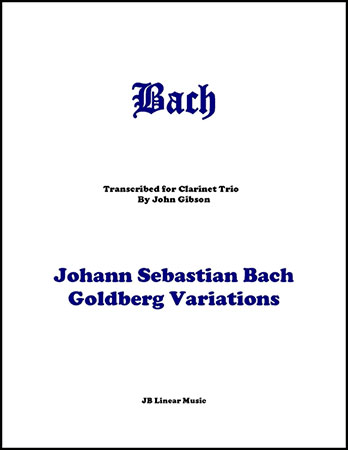 Goldberg Variations for Clarinet Trio