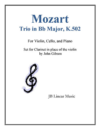 Trio #3 in Bb Major K. 502 - Clarinet, Cello, Piano