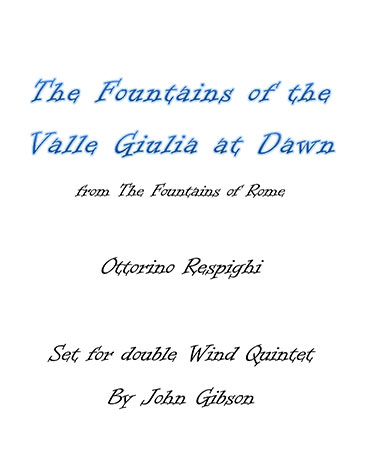 Fountains of Valle Giulia - Double Wind Quintet