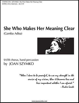 She Who Makes Her Meaning Clear