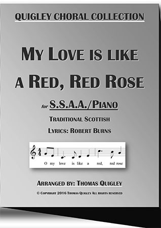 My love is like a Red,Red Rose (S.S.A.A.)