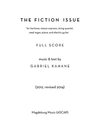 The Fiction Issue