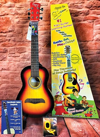 ChordBuddy Jr. Vintage Sunburst Guitar & Instruction Pack