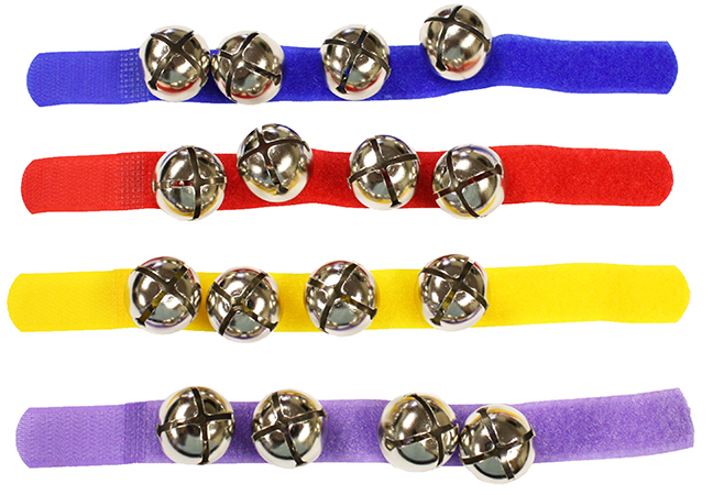 Colored Assortment 12 Wrist Bells