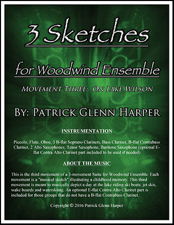Three Sketches for Woodwind Ensemble - Movement 3