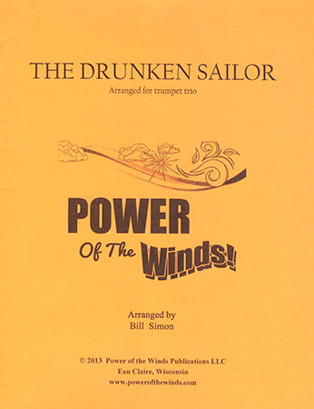 The Drunken Sailor for Trumpet Trio