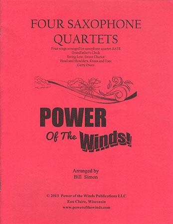 Four Saxophone Quartets (2 alto, 1 tenor, 1 bari.)