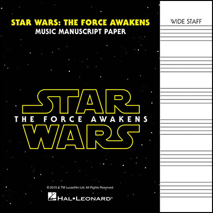 Star Wars: The Force Awakens Manuscript Paper