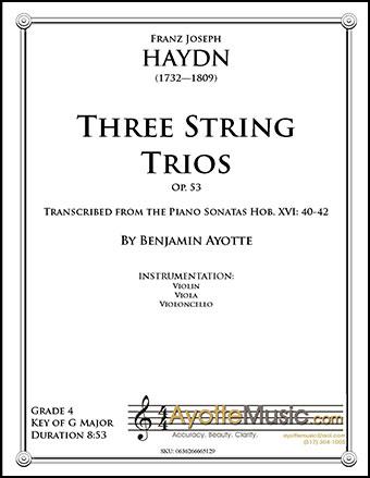 3 String Trios, Op. 53