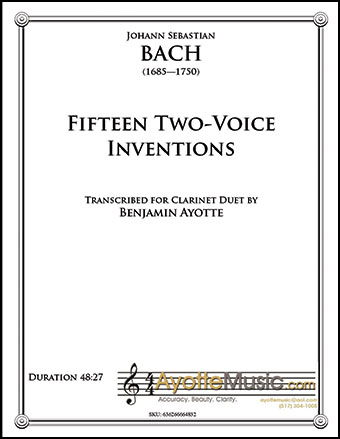 Two Voice Inventions for Clarinet Duet