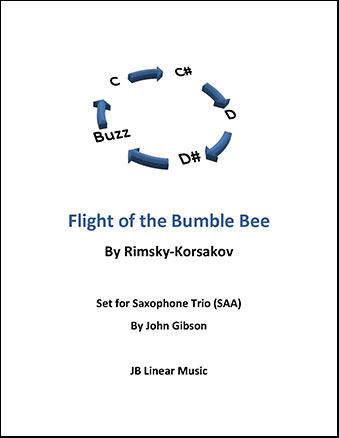 Flight of the Bumble Bee for Saxophone Trio