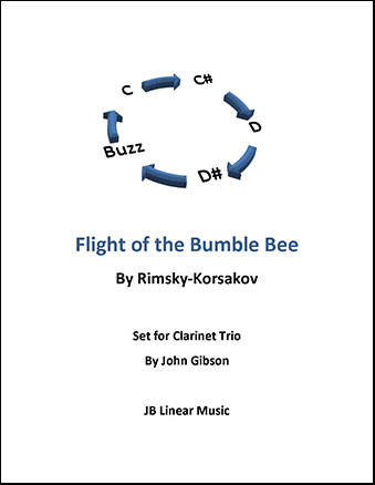 Flight of the Bumble Bee for Clarinet Trio