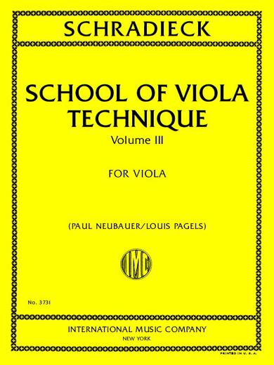 School of Viola Technique No. 3