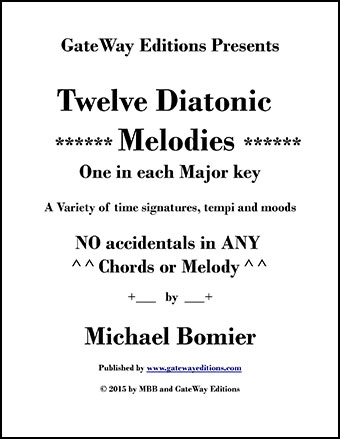 12 Diatonic Melodies for Piano Solo