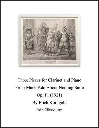 3 Pieces by Korngold set for clarinet and piano
