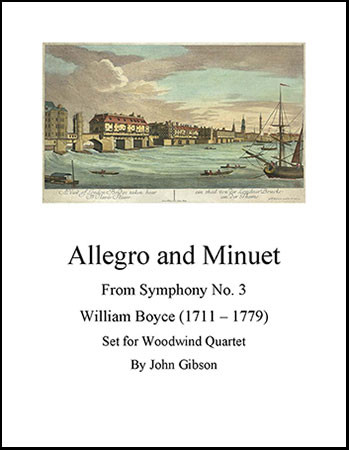 Allegro and Minuet for Woodwind Quartet
