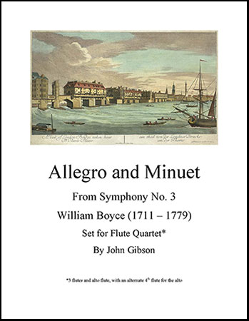 Allegro and Minuet for Flute Quartet