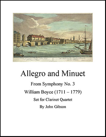 Allegro and Minuet for Clarinet Quartet