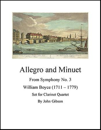 Allegro and Minuet for Clarinet Quartet