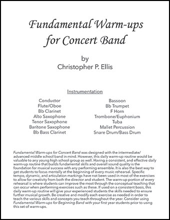 Fundamental Warm-ups for Concert Band