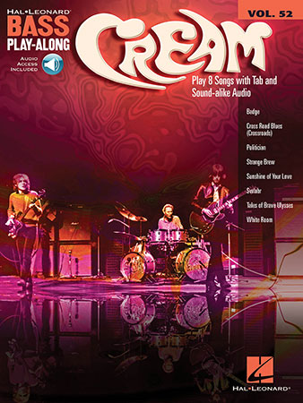 Bass Play-Along, Vol. 52 Cream