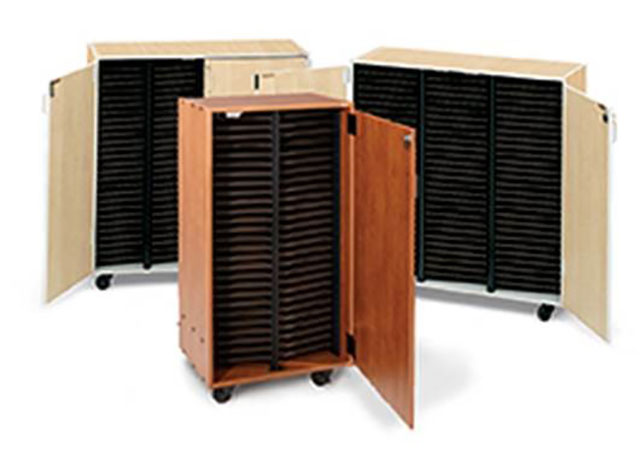 Mobile Band and Orchestra Folio Cabinet 2 Column with Doors