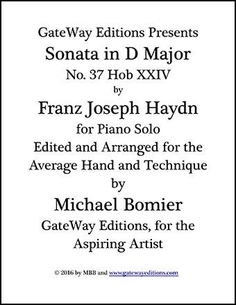 Sonata in D Major No. 37 Hob XXIV