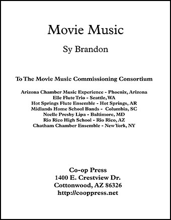 Movie Music for Mixed Trio B-flat Instrument Version Thumbnail