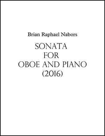 Sonata for Oboe & Piano (2016)