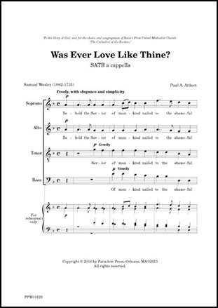 Was Ever Love Like Thine?