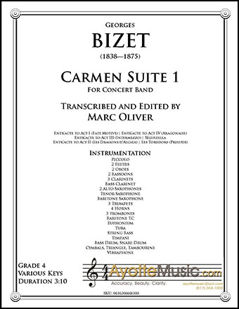 Carmen Suite No. 1 for Concert Band