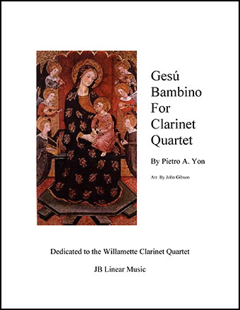 Gesu Bambino (Infant Jesus) for Clarinet Quartet