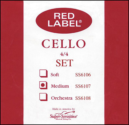 Super Sensitive Bulk Cello String Set 4/4