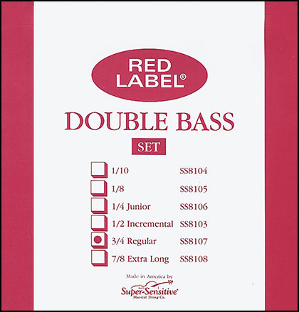 Super Sensitive Bulk Bass String 3/4 Sets