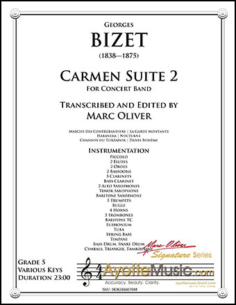 Carmen Suite No. 2 for Concert Band