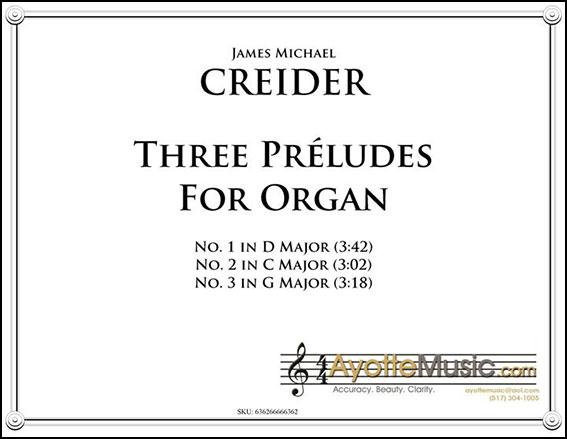 Three Preludes for Organ